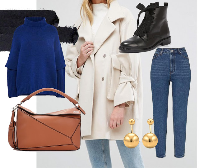OUTFIT / BLUE & CREAM FOR BRIGHT FALL DAYS